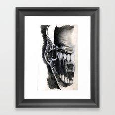 Alien Face. Framed Art Print