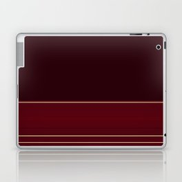 Rich Burgundy Ombre with Gold Stripes Laptop & iPad Skin