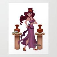 Meg / Megara - Hercules Art Print
