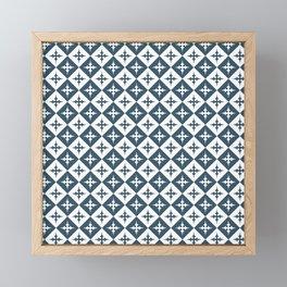 Tile pattern - Blue and White Framed Mini Art Print