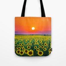 Sunflower Haze Tote Bag