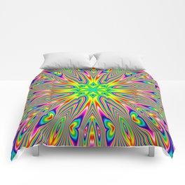 Psychedelic Rainbow Kaleidoscope Comforters