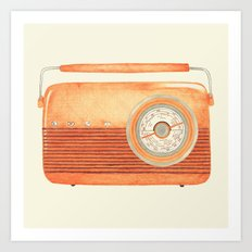 Radio Silence Art Print