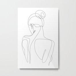 dissol - one line art Metal Print