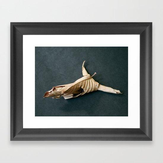 135. Leaf Skull Framed Art Print