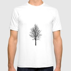Zen Trees White Mens Fitted Tee SMALL