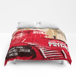 Psycho movie art print Comforters
