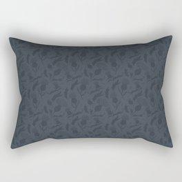 Charcoal Grey Scottish Thistles Pattern Rectangular Pillow