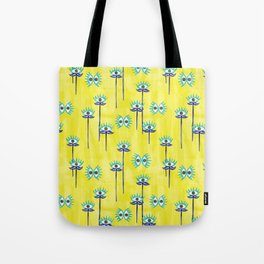 Evil Eye Nazar protective Garden Yellow Tote Bag