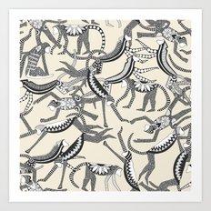 monkey light Art Print