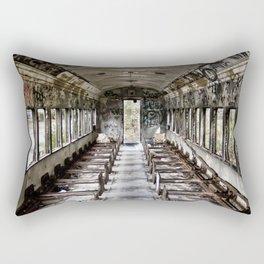 Abandoned Train Car Rectangular Pillow