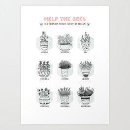 Help the Bees Art Print