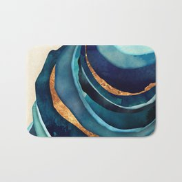 Abstract Blue with Gold Badematte