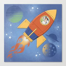 Dreaming my way to the Moon Canvas Print