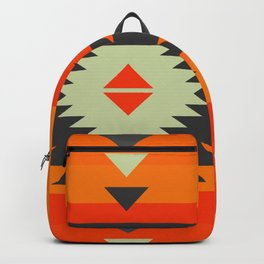Southwestern in orange and red Backpack