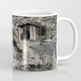 A lonely home in the hills. Coffee Mug