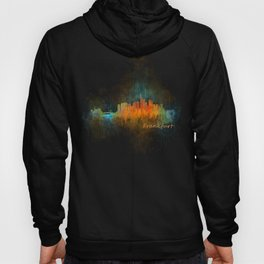 Frankfurt am Main, City Cityscape Skyline watercolor art v4 Hoody