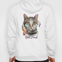 Boho cat illustration. Hoody