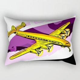 Vintage Plane Rectangular Pillow
