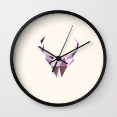 Polydeer in Space Wall Clock