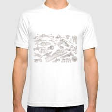 SW Rough Pastels White MEDIUM Mens Fitted Tee