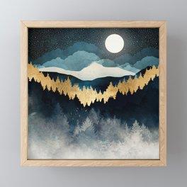 Indigo Night Framed Mini Art Print