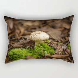 From Little Things - Perfect Mushroom in Fallen Leaves Rectangular Pillow