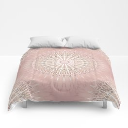 Rose Geometric Mandala Comforters