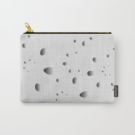 Glowing drops and petals on a gray background in nacre. Carry-All Pouch