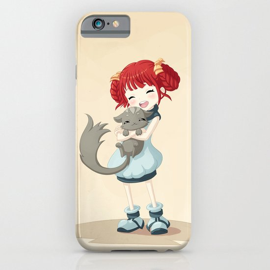 Girl and a Cat iPhone & iPod Case