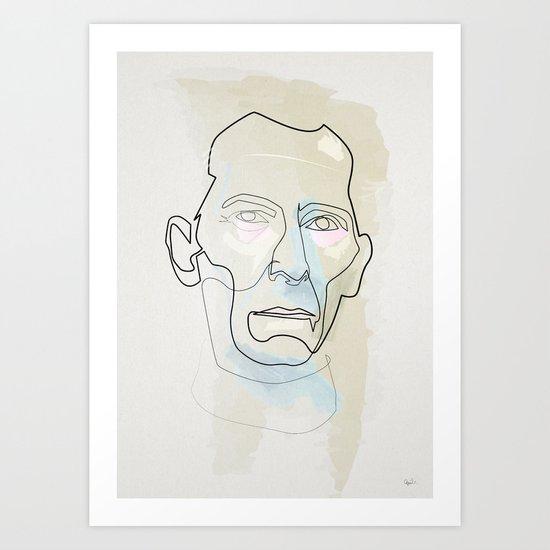 One line Wilhuff Tarkin Art Print