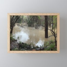 California creek in flood Framed Mini Art Print