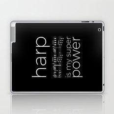 Harp is my super power (3) (black) Laptop & iPad Skin