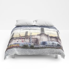 Battersea Power-Station London Snow Comforters