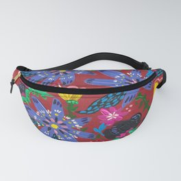 Blue Blooms Fanny Pack