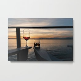 Wine and Whiskey Eve Metal Print