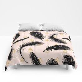 Black feathers Comforters