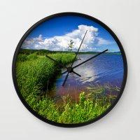 beaver Wall Clocks featuring Beaver Brook by Nicolas Raymond