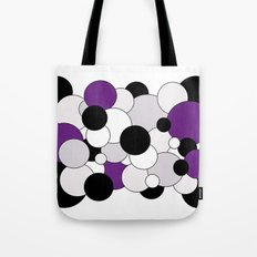Bubbles - purple, black, gray and white Tote Bag