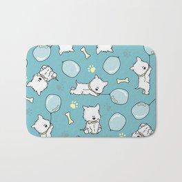 Hungry Westie Puppy Bath Mat