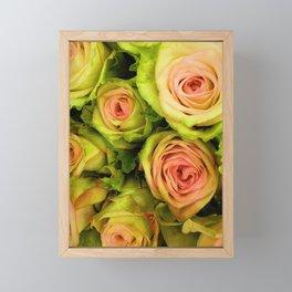 Green & Pink Bouquet Framed Mini Art Print