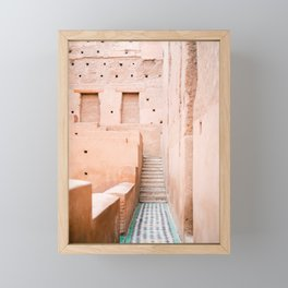 Colors of Marrakech Morocco - El badi palace photo print | Pastel travel photography art Framed Mini Art Print