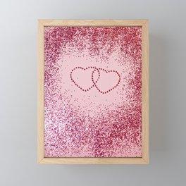 In Love Sparkling Glitter Hearts #2 #red #decor #art #society6 Framed Mini Art Print
