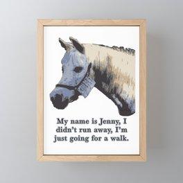 Jenny the Horse Framed Mini Art Print