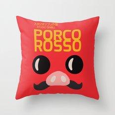 Porco Rosso - Hayao Miyazaki - Alternative, animated movie, Crimson Pig, studio ghibli, Poster Throw Pillow