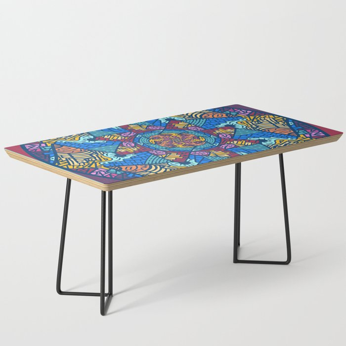 Mountain abstract mandala Coffee Table