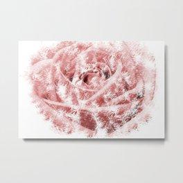 Faint Rose Metal Print