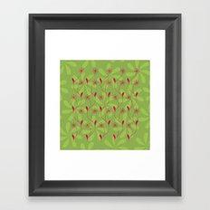 Flowerline – green Framed Art Print