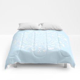 Snow & Ice Love Symbol Mandala Comforters