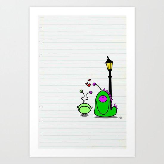 monsters love Art Print